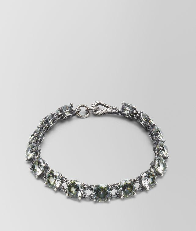 BOTTEGA VENETA CHAMOMILE CUBIC ZIRCONIA/OXIDIZED SILVER BRACELET Bracelet Woman fp