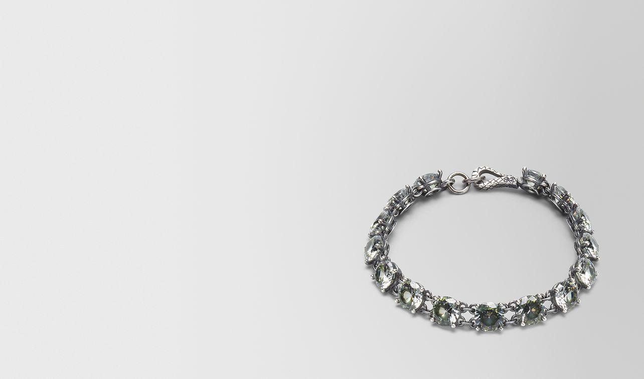 bracelet en argent oxydé/zircon cubique chamomile landing