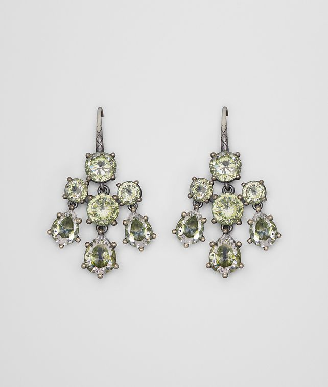 BOTTEGA VENETA CHAMOMILE CUBIC ZIRCONIA/OXIDIZED SILVER EARRINGS Earrings Woman fp