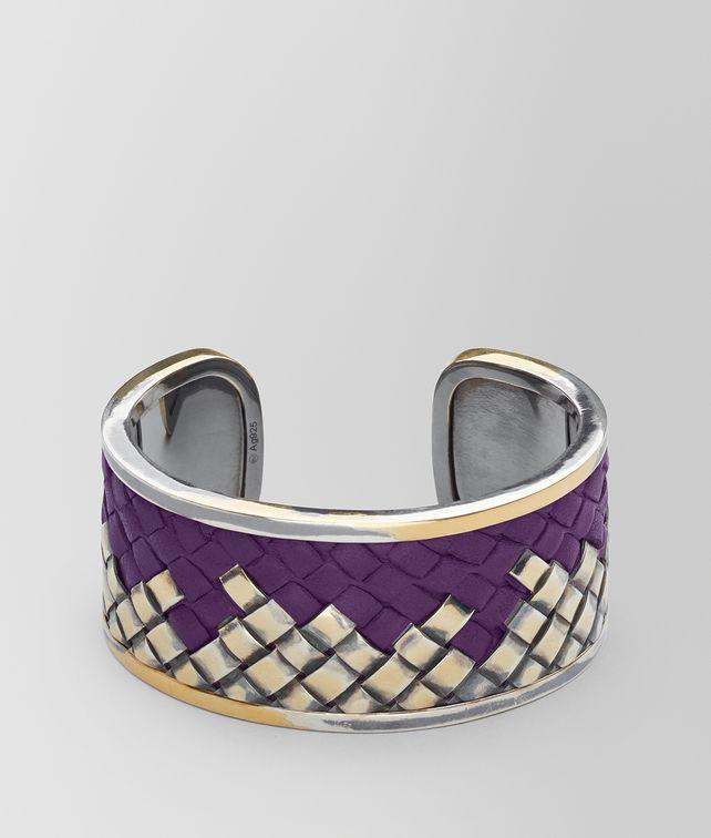 BOTTEGA VENETA BRACELET EN ARGENT OXYDÉ/CUIR MONALISA Bracelet Femme fp