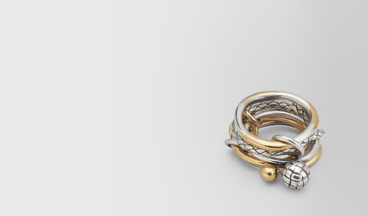 bague dichotomy avec patine en or jaune/antique silver landing
