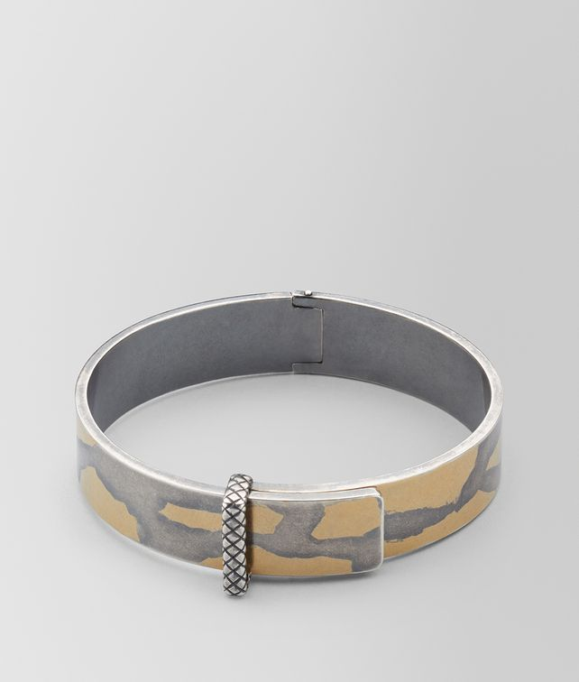 BOTTEGA VENETA ANTIQUE SILVER/YELLOW GOLD PATINA BRACELET Bracelet Woman fp