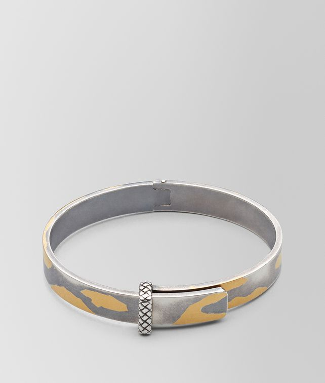 BOTTEGA VENETA ANTIQUE SILVER/YELLOW GOLD PATINA BRACELET Bracelet [*** pickupInStoreShipping_info ***] fp