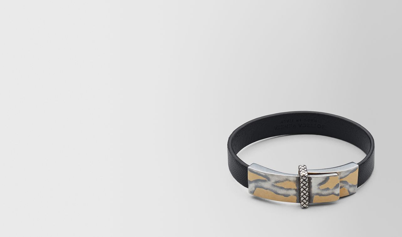 nero leather/oxidized silver bracelet landing