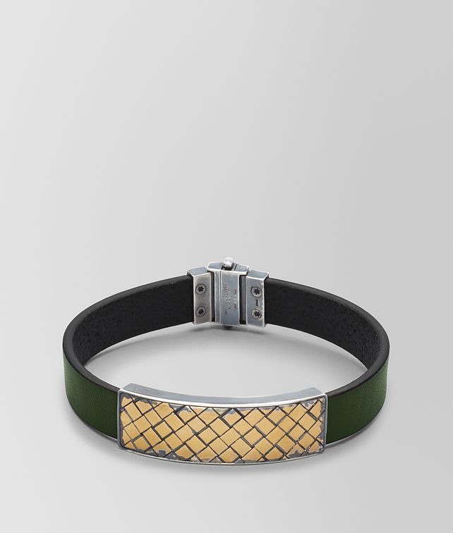 BOTTEGA VENETA FOREST LEATHER/ANTIQUE SILVER BRACELET Bracelet [*** pickupInStoreShippingNotGuaranteed_info ***] fp