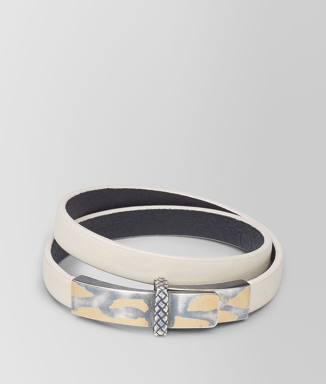 BOTTEGA VENETA MIST LEATHER/OXIDIZED SILVER BRACELET Bracelet [*** pickupInStoreShipping_info ***] fp