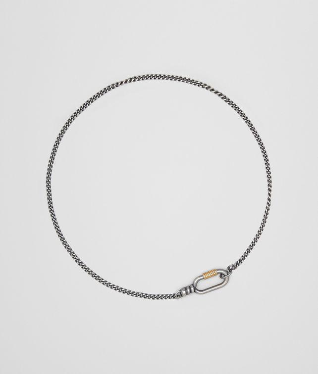 BOTTEGA VENETA ANTIQUE SILVER/YELLOW GOLD PATINA NECKLACE Necklace Man fp