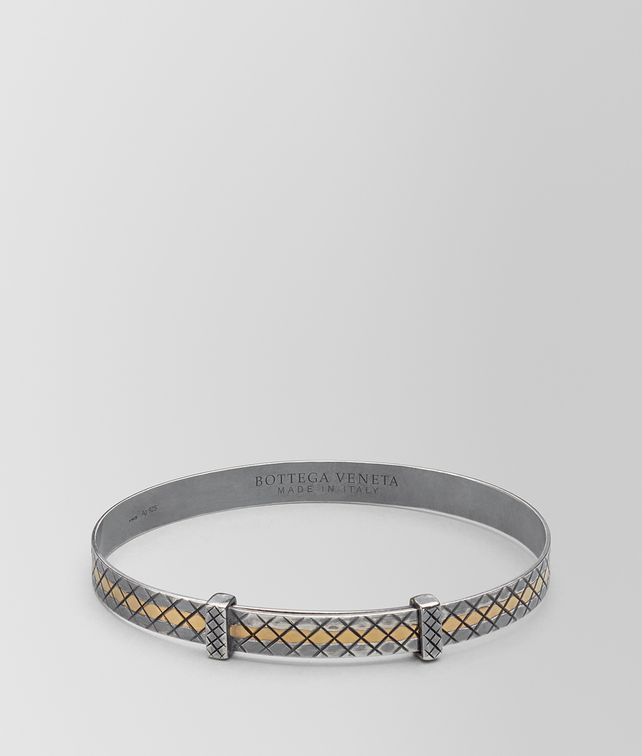 BOTTEGA VENETA ANTIQUE SILVER/YELLOW GOLD PATINA BRACELET Bracelet Man fp