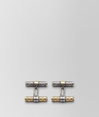 ANTIQUE SILVER/YELLOW GOLD PATINA CUFFLINKS