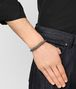 BOTTEGA VENETA LIGHT GREY LEATHER/ANTIQUE SILVER BRACELET Bracelet Man ap