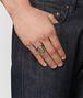 ring aus natürlichem chalkopyrit/altsilber Porträt, Rückendetail