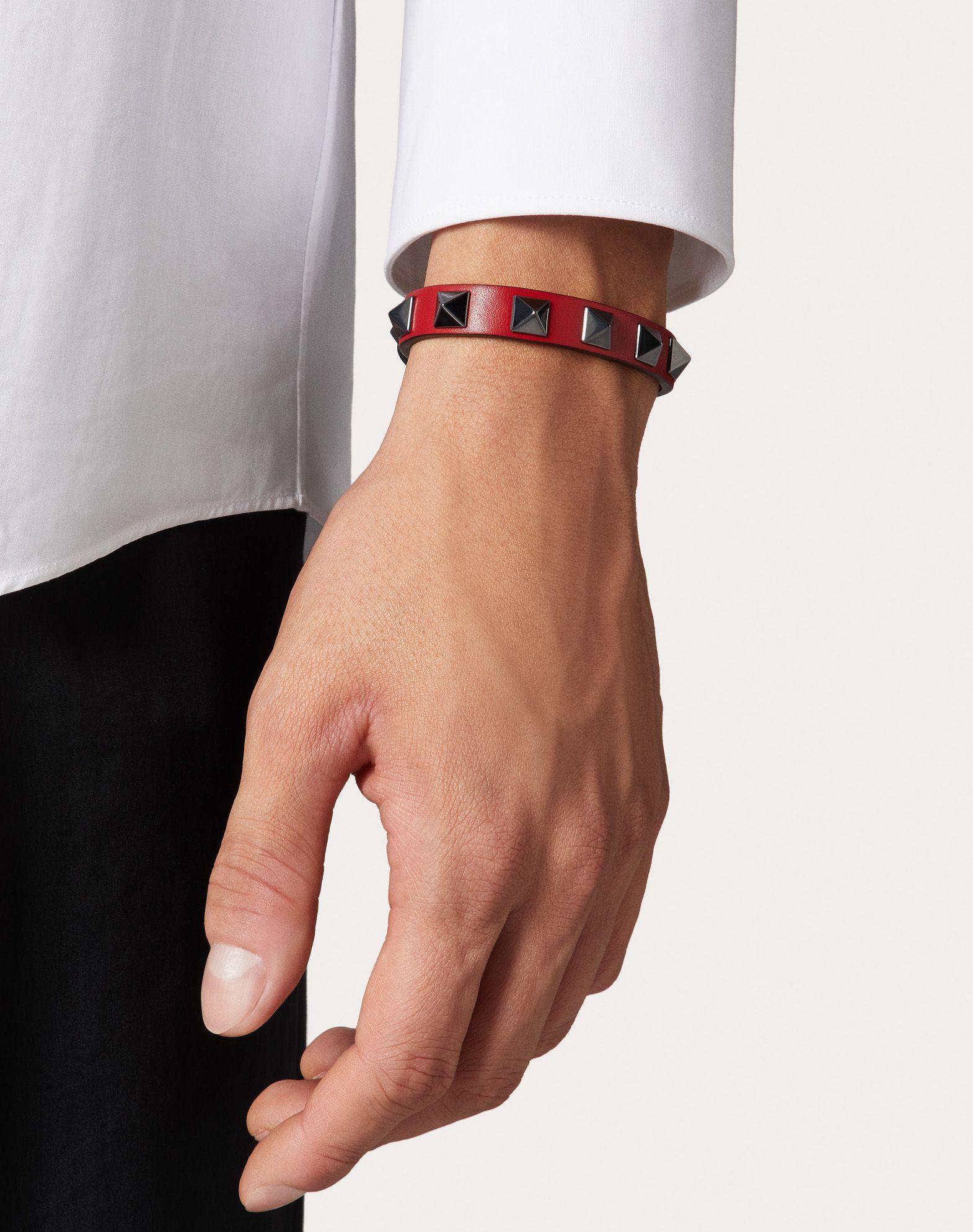VALENTINO GARAVANI UOMO Rockstud bracelet Bracelet U a