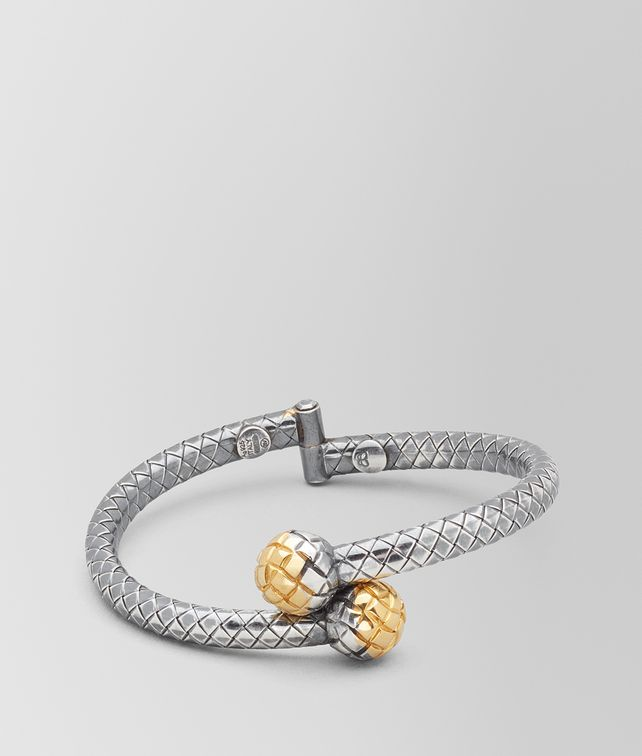 BOTTEGA VENETA ANTIQUE SILVER/YELLOW GOLD PATINA DICHOTOMY BRACELET Bracelet Woman fp