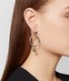 antique silver/yellow gold patina dichotomy earing Front Detail Portrait