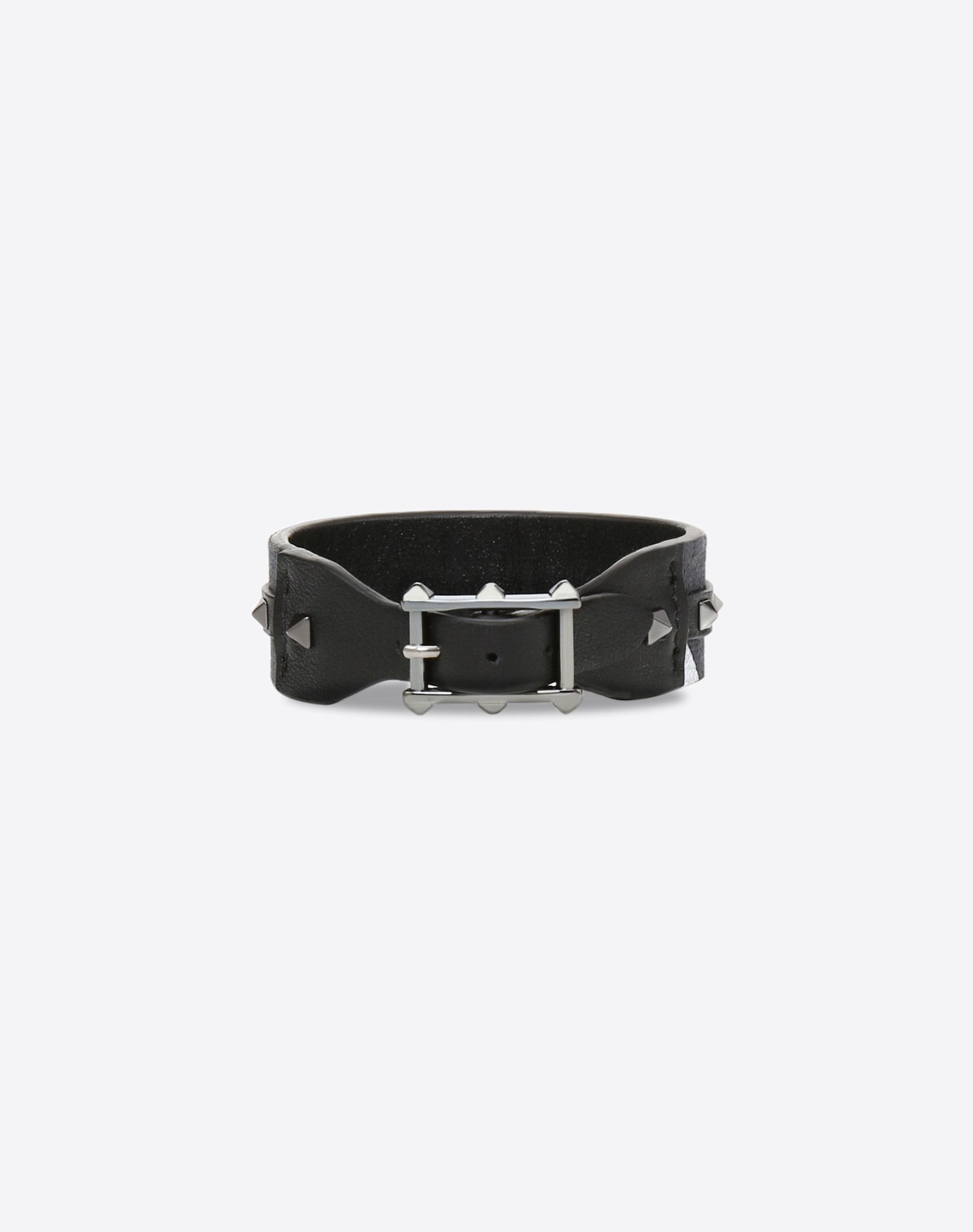 VALENTINO Canvas Buckle Strap material: leather Studs  50212435lf