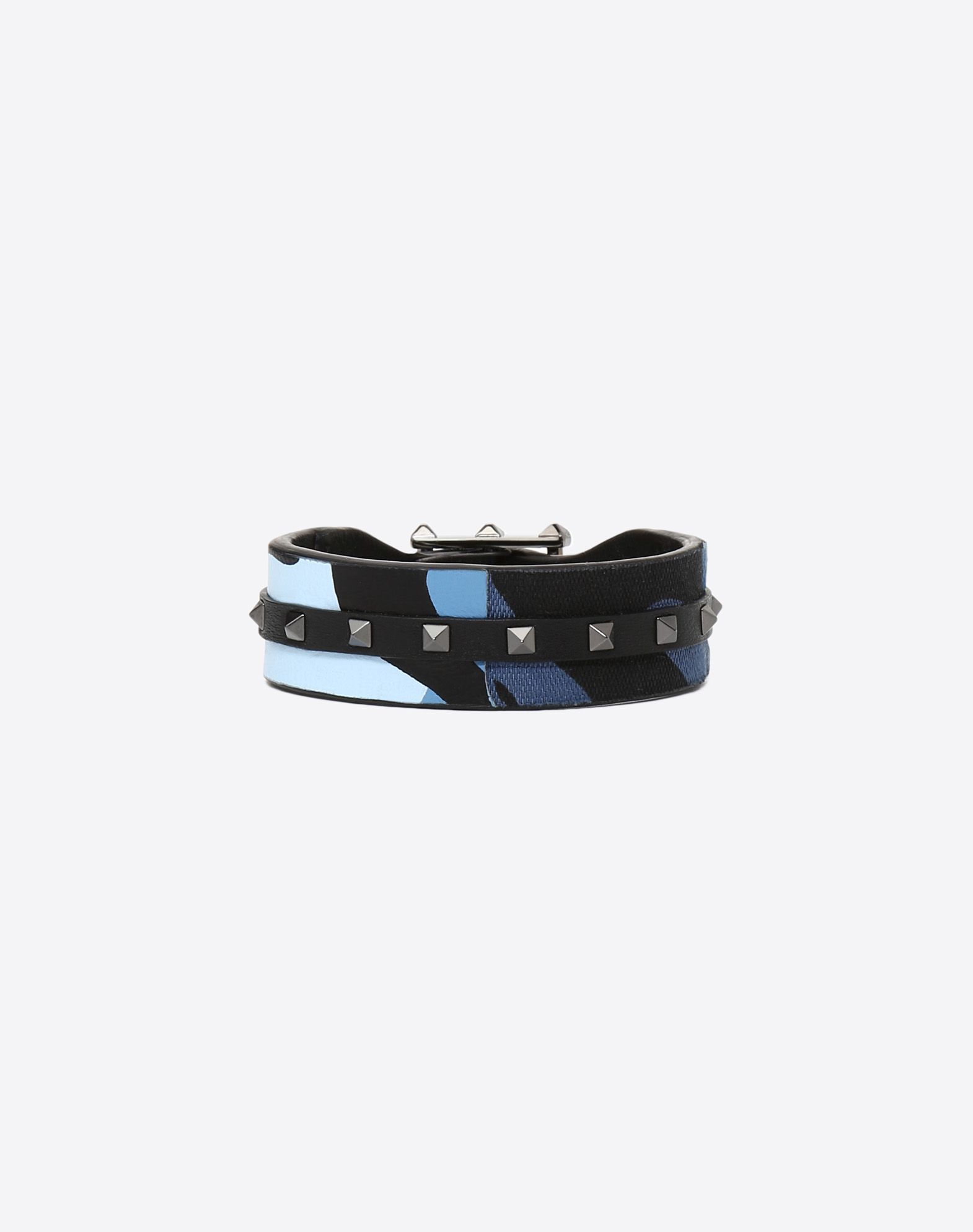 VALENTINO Studs Canvas Buckle Strap material: leather  50212437gq