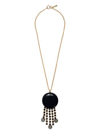 Marni Metal, resin and rhinestone necklace Woman
