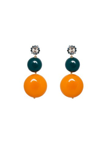 Marni Rhinestone earrings with resin charms Woman