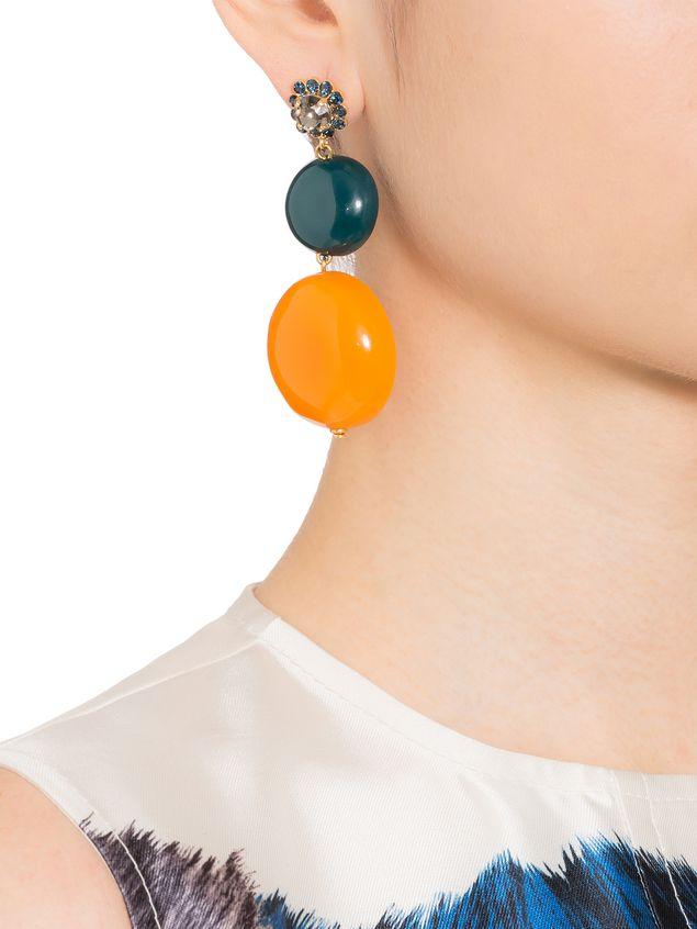 Marni Rhinestone earrings with resin charms Woman - 2