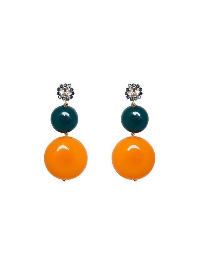 Marni Rhinestone earrings with resin charms Woman - 1