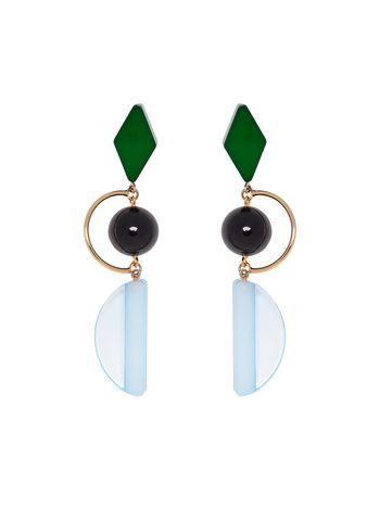 Marni Resin and metal leverback earrings Woman
