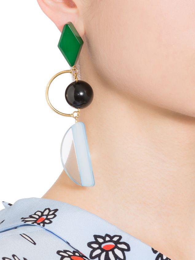 Marni Resin and metal leverback earrings Woman - 2