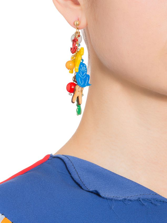 Marni Screw earrings in metal with charms by Frank Navin Woman - 2