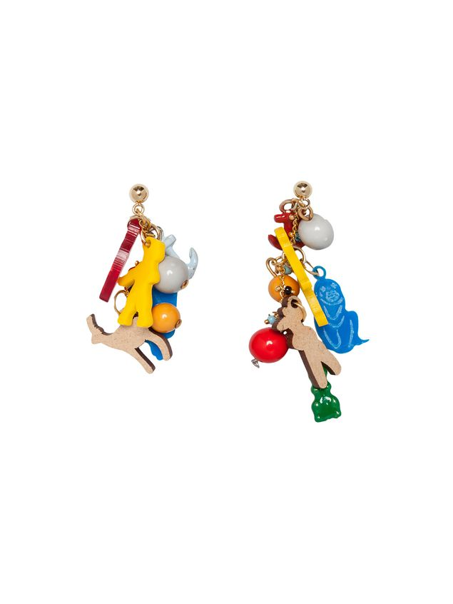 Marni Screw earrings in metal with charms by Frank Navin Woman - 1