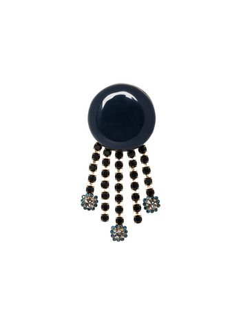 Marni Resin and rhinestone brooch Woman