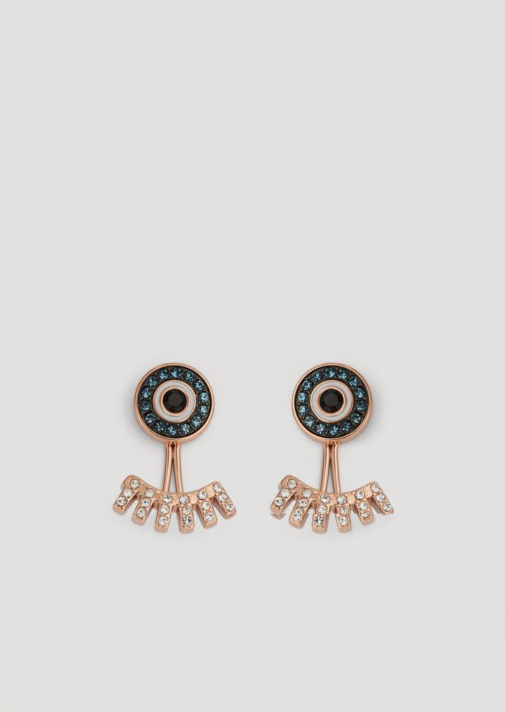 Emporio Armani Eyes On The World Earrings With Rhinestones Earring Woman F