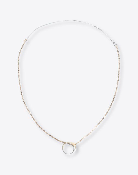 MAISON MARGIELA Silver necklace with ring pendant Necklace [*** pickupInStoreShippingNotGuaranteed_info ***] f