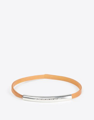 MAISON MARGIELA Bracelet Man Rubber bracelet with silver tube f