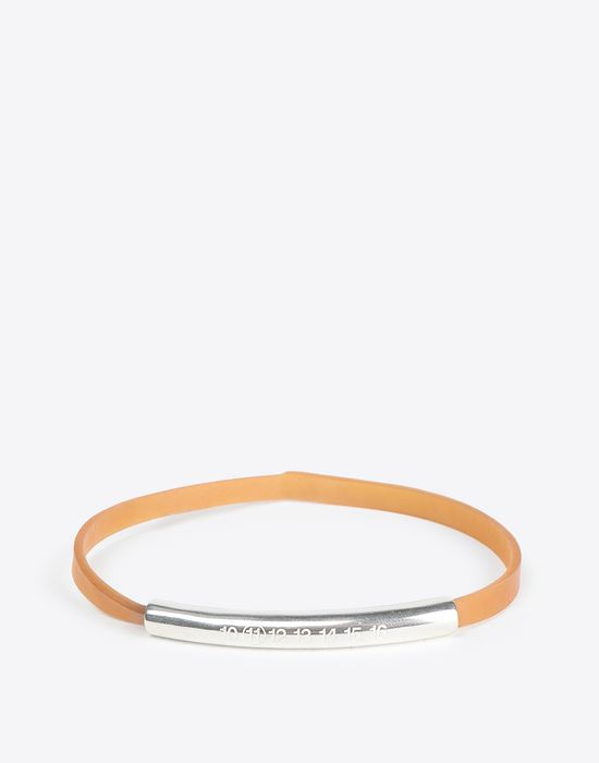 MAISON MARGIELA Rubber bracelet with silver tube Bracelet [*** pickupInStoreShippingNotGuaranteed_info ***] f