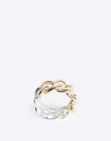 MAISON MARGIELA Ring [*** pickupInStoreShippingNotGuaranteed_info ***] Two-tone silver chain ring f