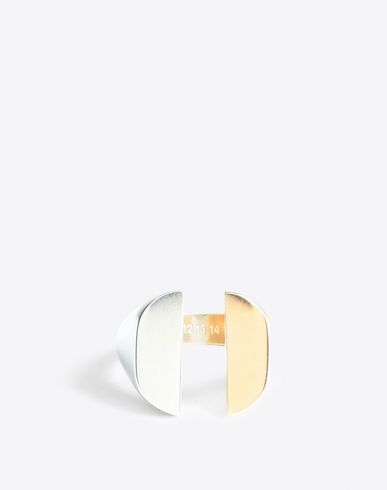 MAISON MARGIELA Ring [*** pickupInStoreShippingNotGuaranteed_info ***] Two-tone split signet ring f