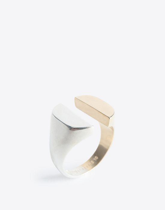 MAISON MARGIELA Two-tone split signet ring Ring Man r