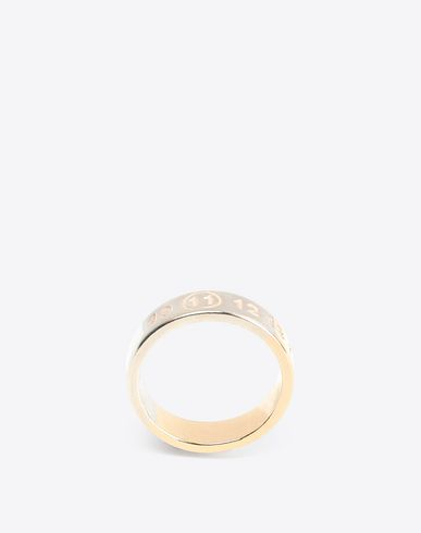 MAISON MARGIELA Ring [*** pickupInStoreShippingNotGuaranteed_info ***] Two-tone logo ring f