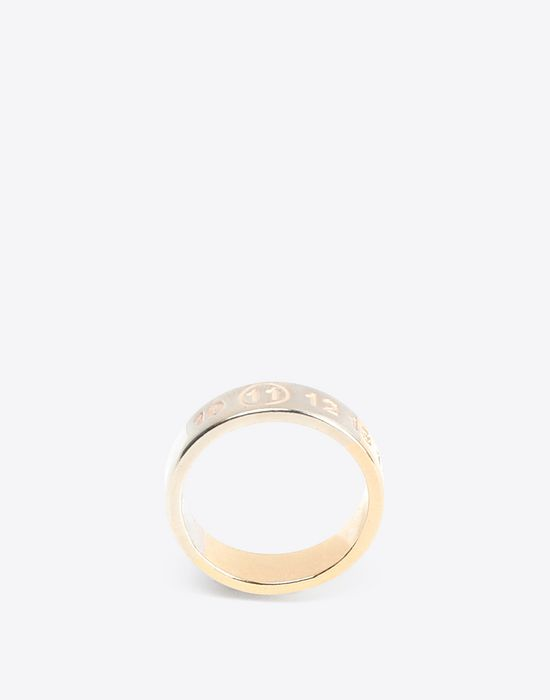 MAISON MARGIELA Two-tone logo ring Ring Man f