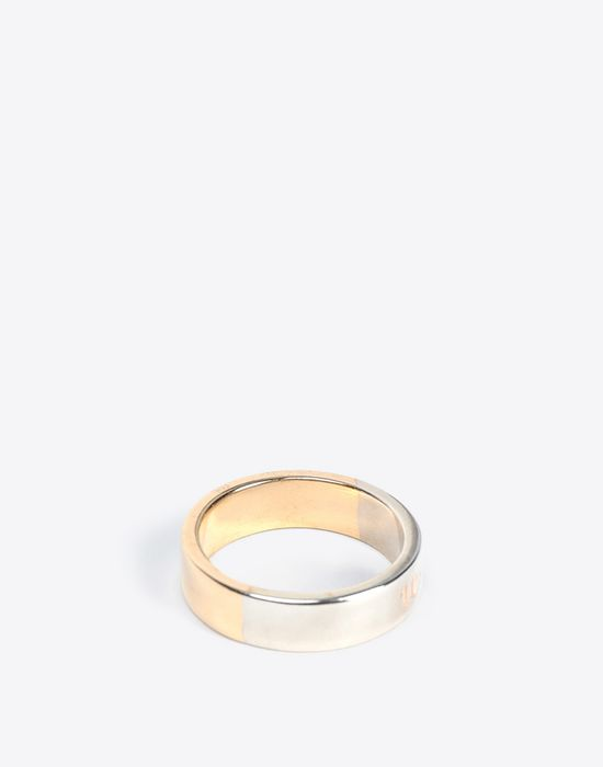 MAISON MARGIELA Two-tone logo ring Ring Man r