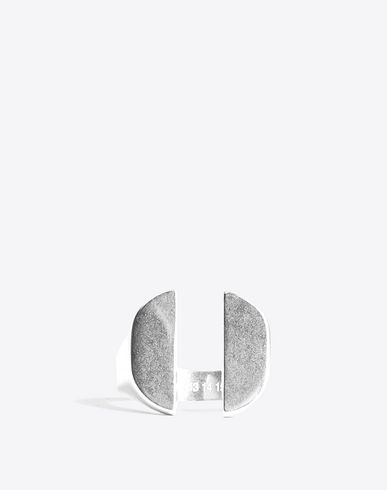 MAISON MARGIELA Ring [*** pickupInStoreShippingNotGuaranteed_info ***] Silver split signet ring f