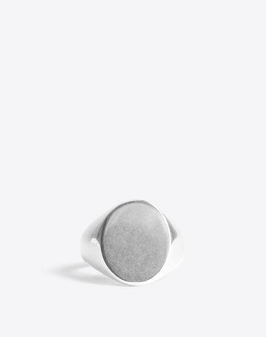 MAISON MARGIELA Ring [*** pickupInStoreShippingNotGuaranteed_info ***] Silver signet ring f