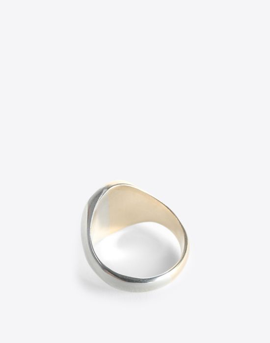 MAISON MARGIELA Two-tone silver signet ring Ring [*** pickupInStoreShippingNotGuaranteed_info ***] d