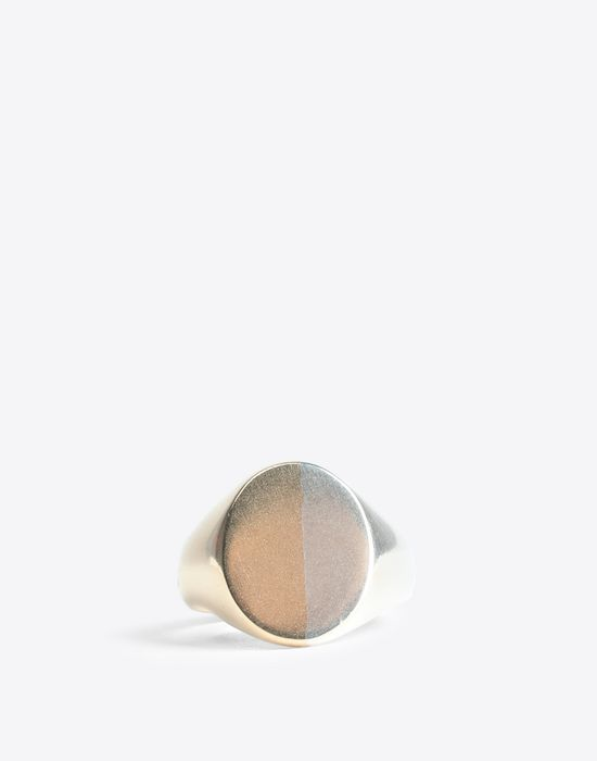 MAISON MARGIELA Two-tone silver signet ring Ring [*** pickupInStoreShippingNotGuaranteed_info ***] f