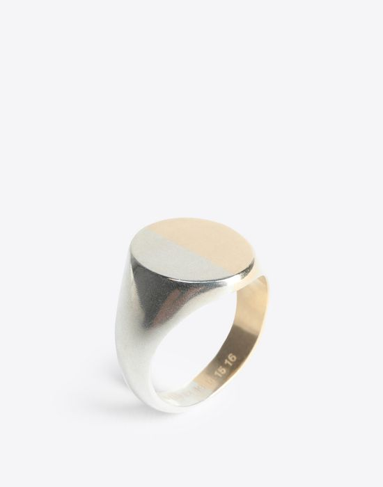 MAISON MARGIELA Two-tone silver signet ring Ring [*** pickupInStoreShippingNotGuaranteed_info ***] r