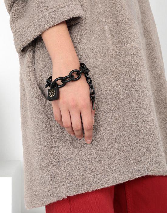 MM6 MAISON MARGIELA Black chain bracelet with a padlock Bracelet [*** pickupInStoreShipping_info ***] b