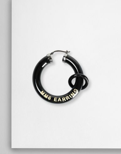MM6 MAISON MARGIELA イヤリング レディース Black links earrings f