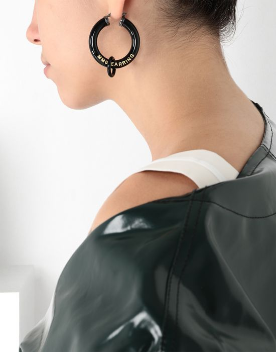 MM6 MAISON MARGIELA Black links earrings Earrings [*** pickupInStoreShipping_info ***] b
