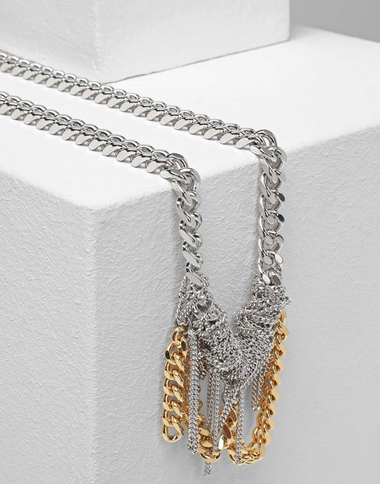 MM6 MAISON MARGIELA Necklace with contrasting chains Necklace [*** pickupInStoreShipping_info ***] r