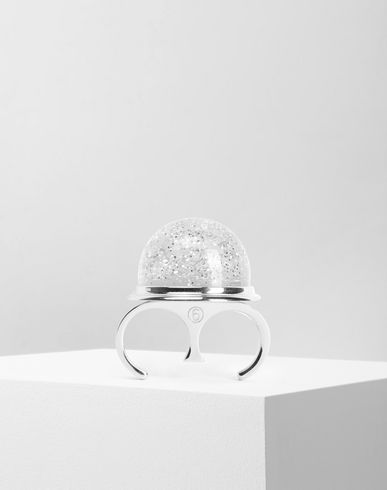 MM6 MAISON MARGIELA Ring Woman Snow globe ring f
