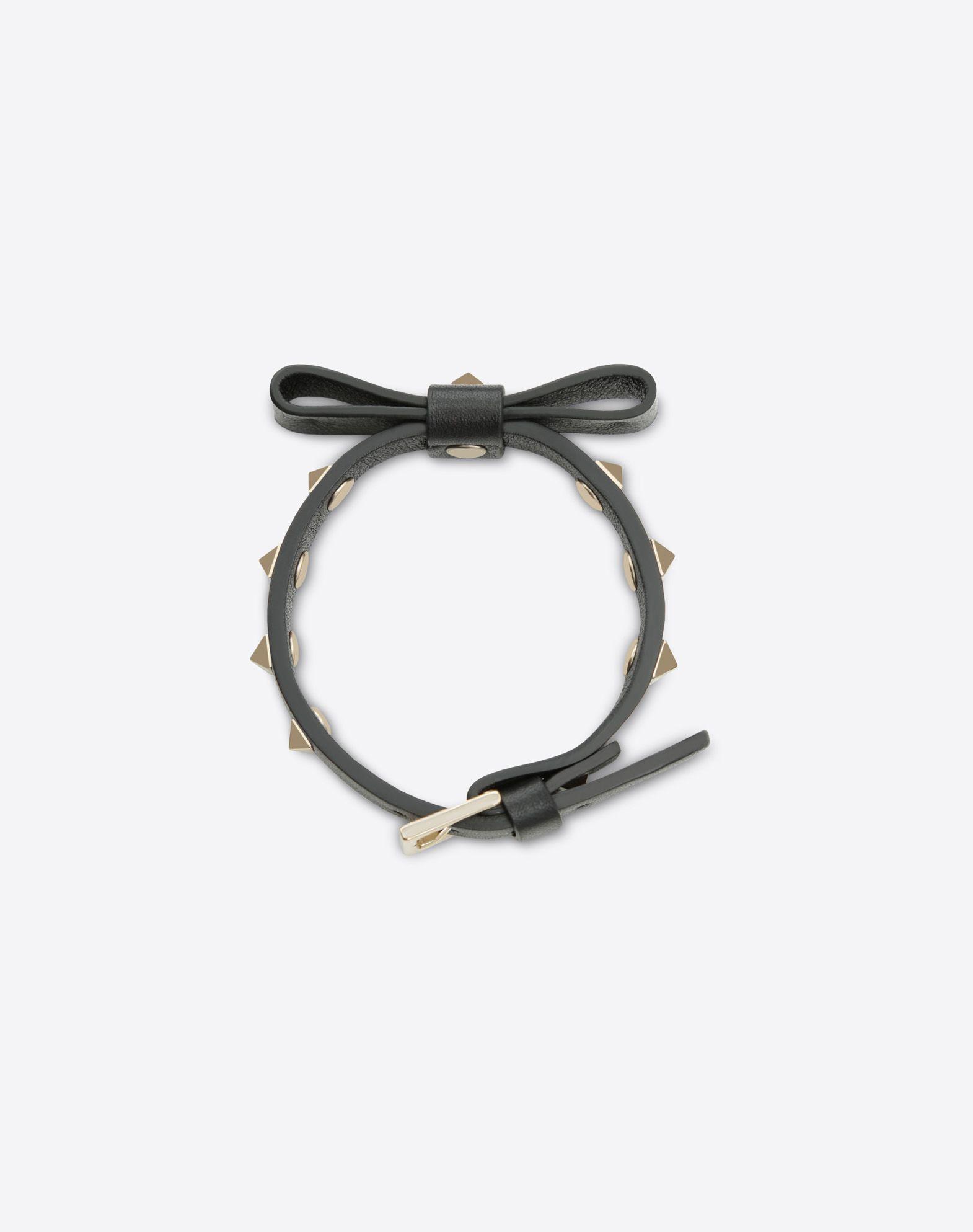 VALENTINO GARAVANI Rockstud Bracelet with bow detail Bracelet D r